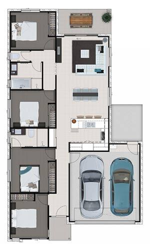 Avalon 18 Soho floorplan for Mackay house and land package
